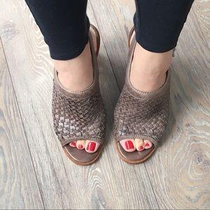 Frye Sophia woven heels
